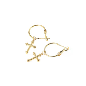 SUKOU STUDIOS CROSS EARRINGS
