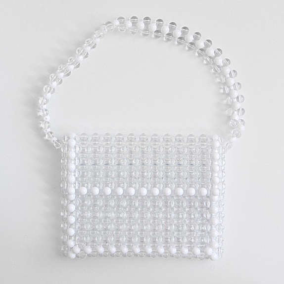 SUKOU STUDIOS CRYSTAL WHITE BAG