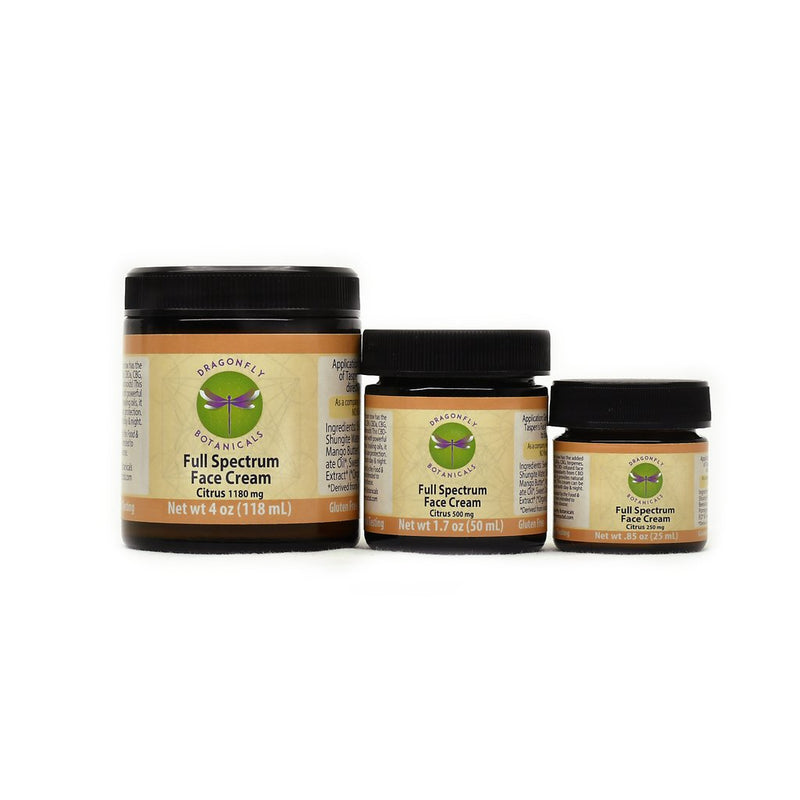 .85oz Full Spectrum CBD Hemp FACIAL MOISTURIZING CREAM: Citrus