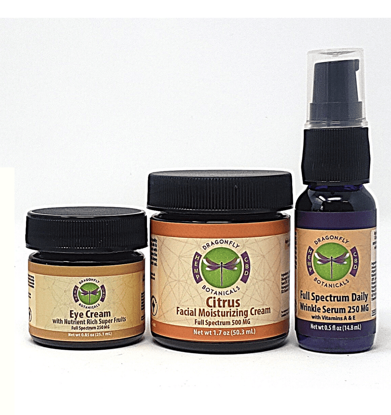 Full Spectrum CBD Hemp 3 Piece Facial Kit