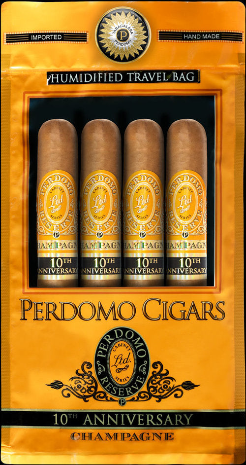 Perdomo Humidified Bags 10th Anniversary 4-pack -