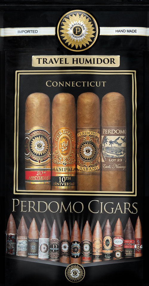 Perdomo Humidified Bags Assortment 4-pack - Connecticut