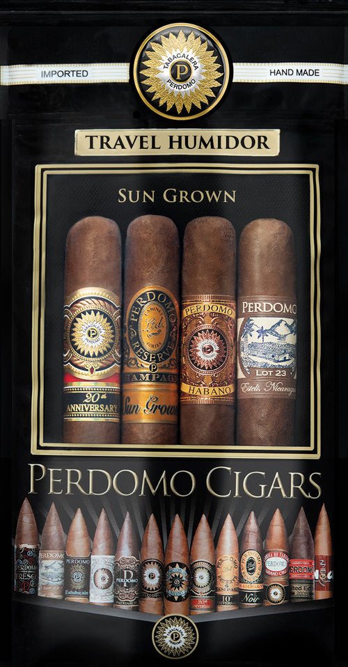 Perdomo Humidified Bags Assortment 4-pack - Sungrown