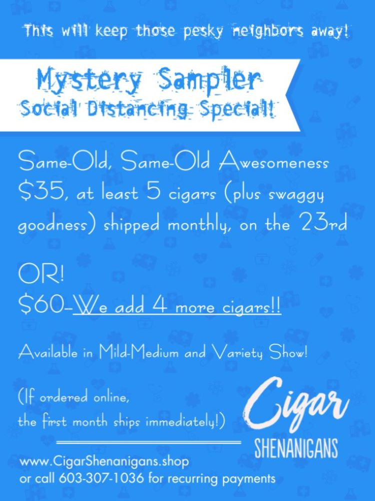 Mystery Sampler! Now Available! The Social Distancing Bonus Pack!