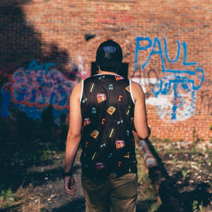 Black Summer Vibes Full Sublimated Tank Top by Love & Bass