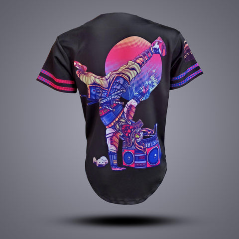 Break Dance Samurai Baseball Jersey