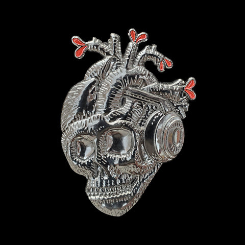 Skull Beats Hat Pin
