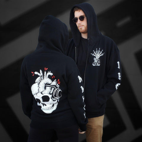 Image of Skull Beats Heavy-weight Hoodie