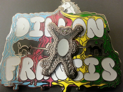 "Dillon Francis ""Laser Cats"" Glow-in-the-Dark Spinning Hat Pin"