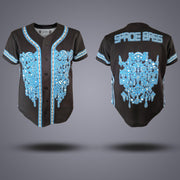 Space Bass Sublimated Baseball Jersey