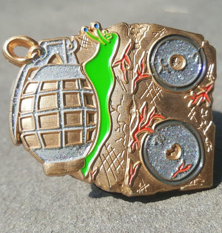 Image of 3D Snails Grenade  Speaker Hat Pin