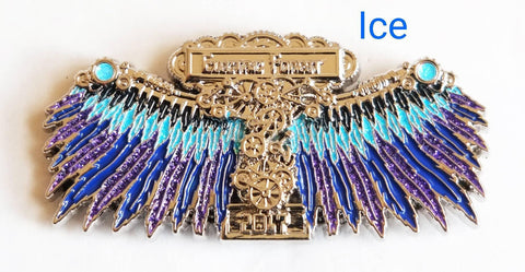 "Electric Forest ""Clockwork Wings"" Hat Pin (Fire, Ice, Nuclear, Space, Gray)"