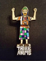 Trap Arms Spring-Action Dancing Hat Pin
