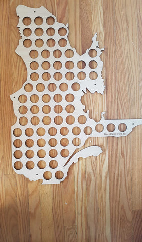 Quebec Beer Cap Map