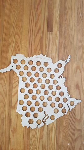New Brunswick Beer Cap Map