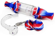 Complete Silicone Nectar Collector Kit (Red/White/Blue)