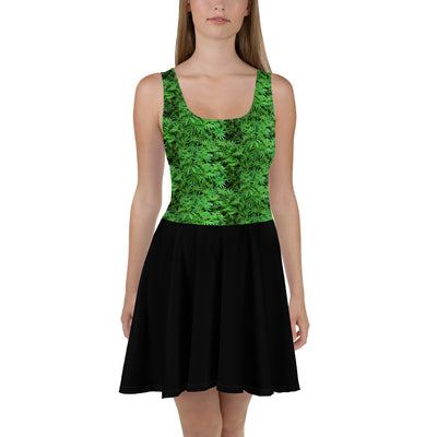LeafCamo Skater Dress