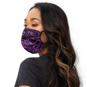Purp LeafCamo Face Covering