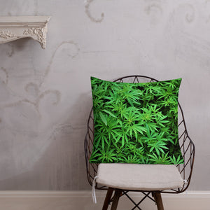 LeafCamo Premium Throw Pillow