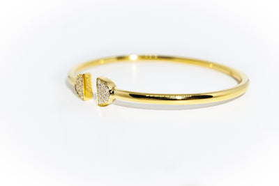 Double Latte Bangle - 24k Gold