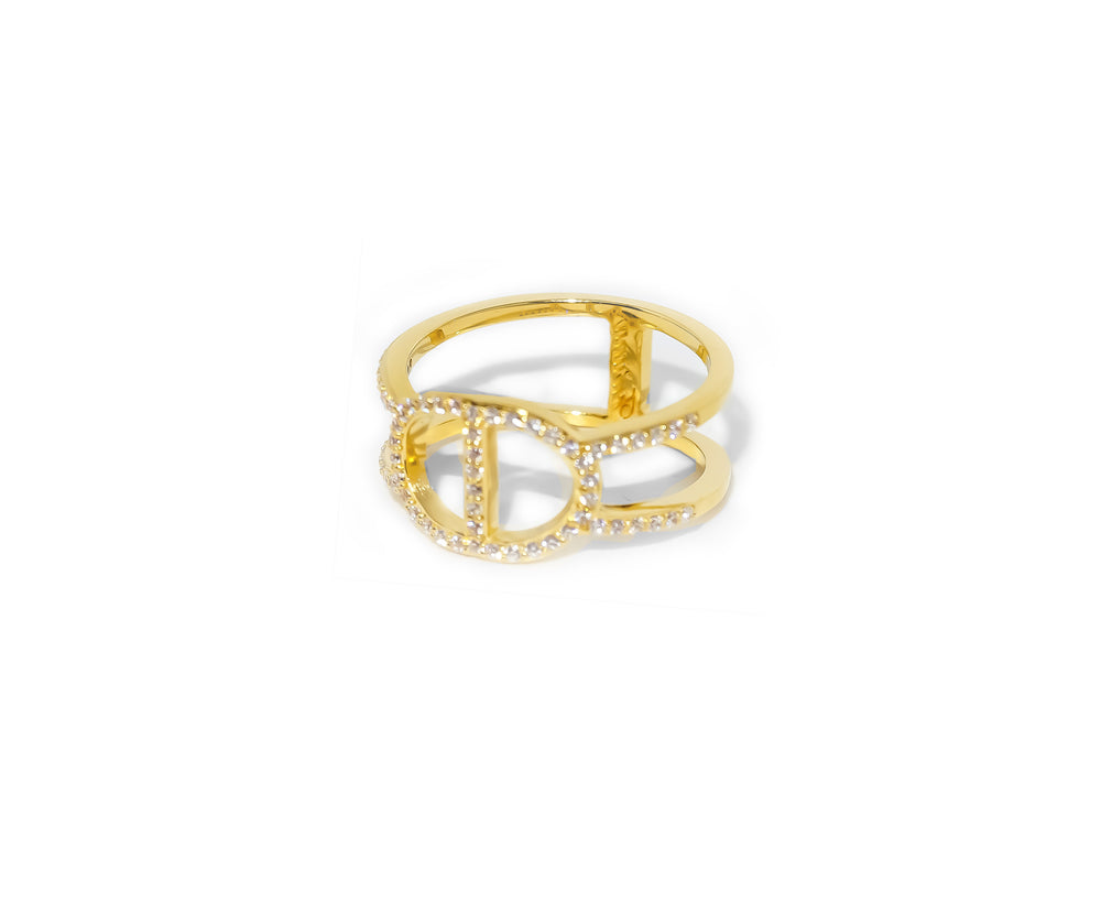 Double Latte Ring - 24k Gold