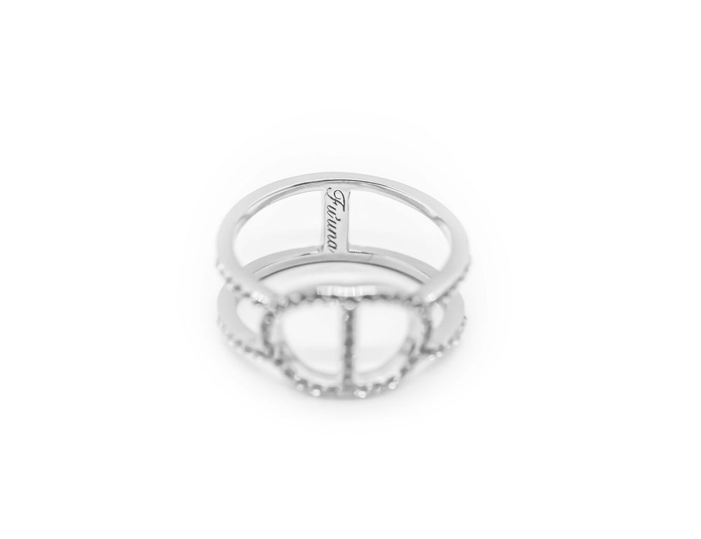 Double Latte Ring - Silver Ice