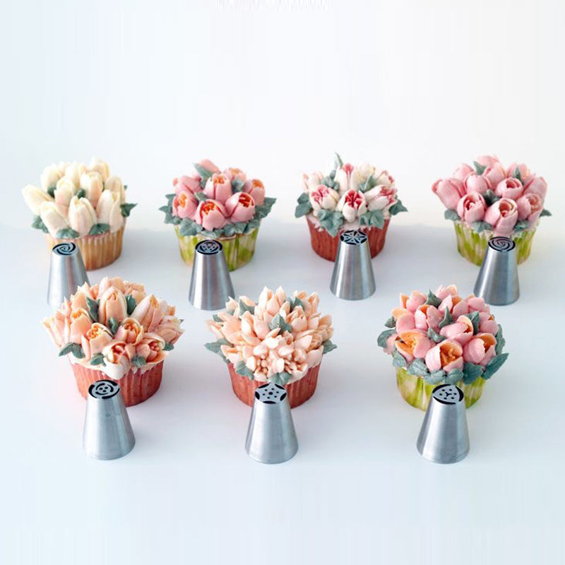 7Pcs/Set Russian Nozzles Tulip Icing Nozzles - The Unique Home