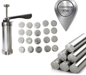 Manual Biscuit Cookie Press Stamps Set