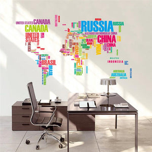 World Map Wall Sticker - The Unique Home