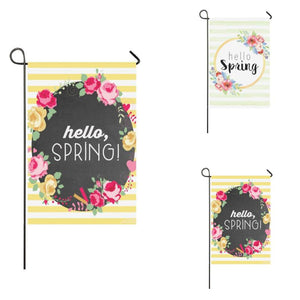 Hello Spring Garden Outdoor Flag