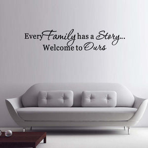 Every Family Has A Story Quote Wall Vinyl Decals