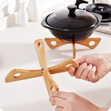 Bamboo Heat Resistant Pan Mats Holder