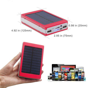 LED Portable Solar Power Bank Case
