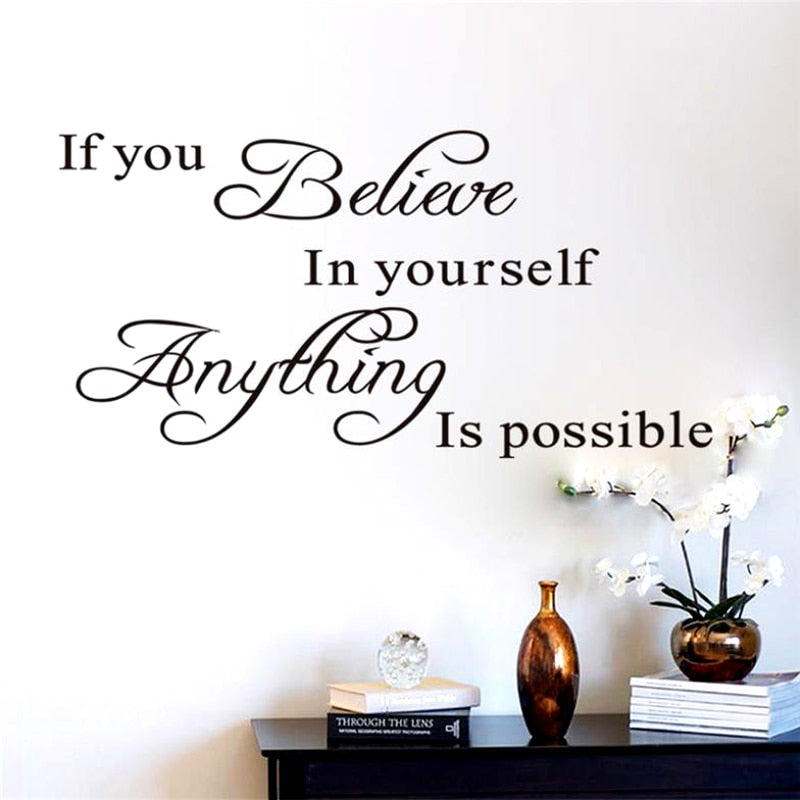 Anything Is Pssible Inspirational Quotes Wall Decals