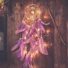 Dream Catcher WITH Night Light Feathers Home Decor