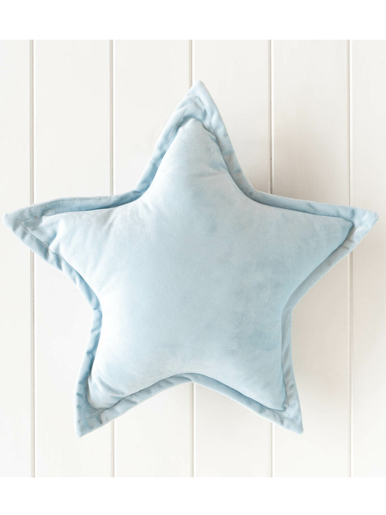 Nova Star Velvet Cushion - Blue