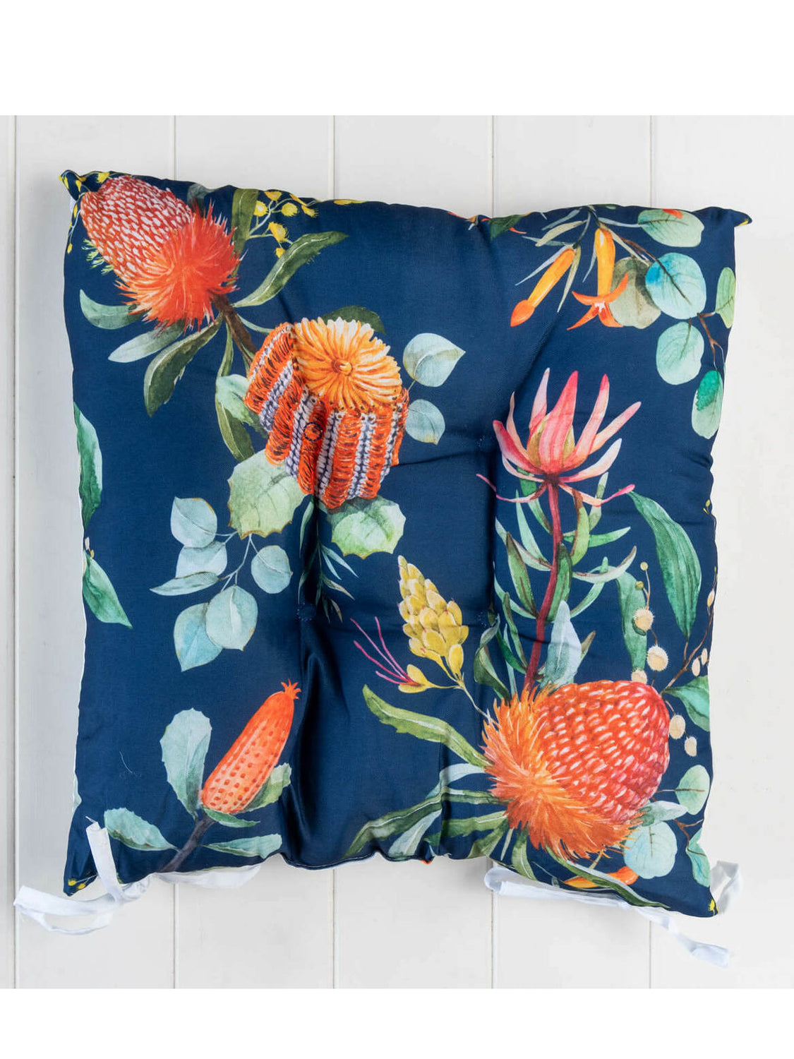 Banksia Navy - Chair Pad