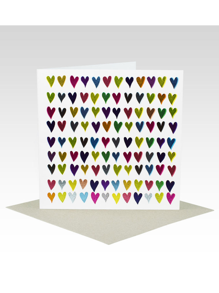 Multi Colour Foil Hearts