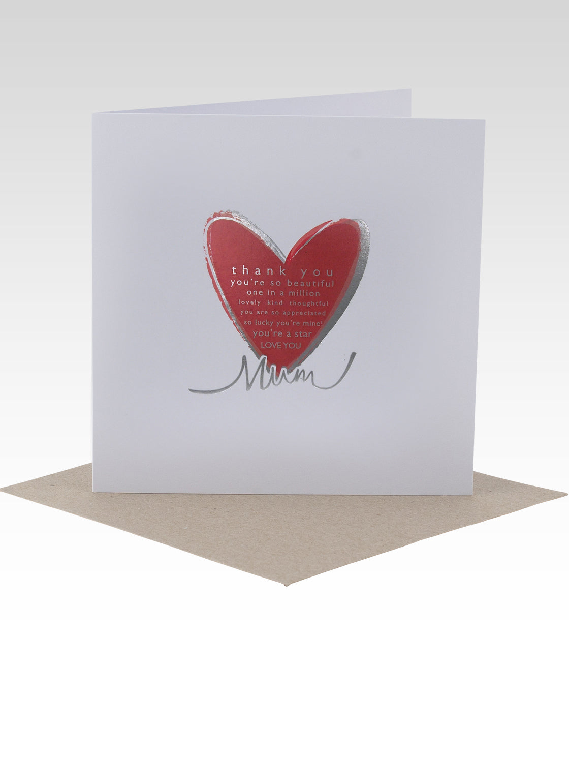 Card Foil Heart Mum