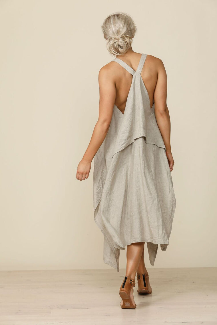 Cefalu Sundress in natural from Shanty Corp