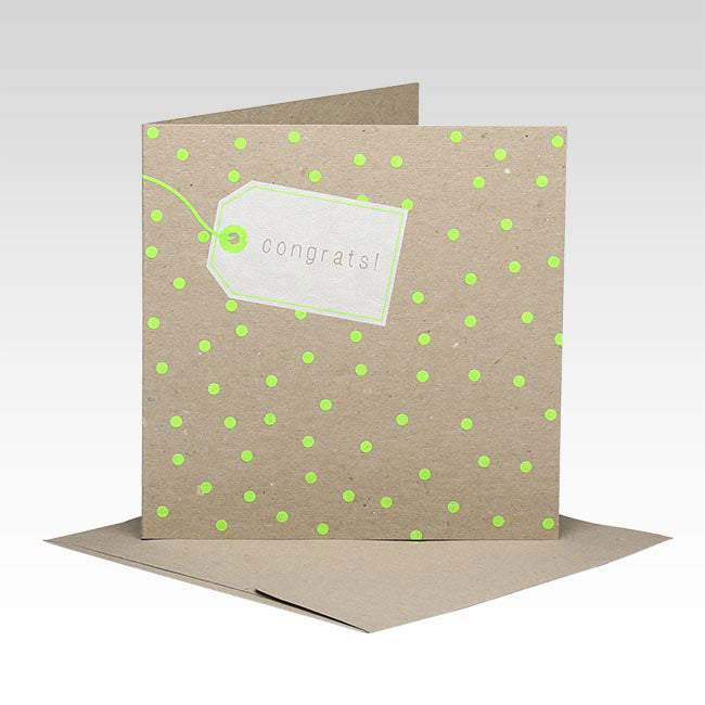 Polka Dot Congratulations Card