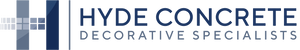 "Hyde Concrete Precast logo shows an H and states that Hyde Concrete is a ""Decorative Specialists"""