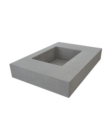 Crabpot Concrete Sink in Vanity Top