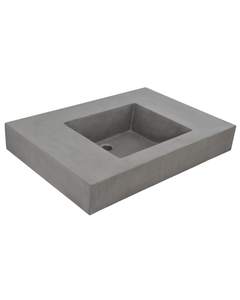 Oyster Rake Concrete Sink in Vanity Top
