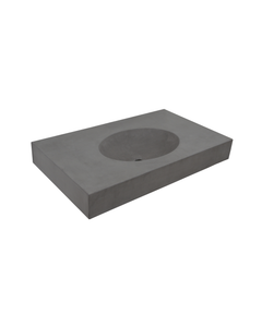 Panna Concrete Sink in Vanity Top