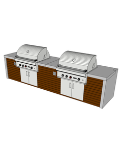 Side by Side Outdoor Grill Station