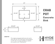 Crab Pot Concrete Bathroom Sink