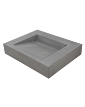 Small Concrete Ramp Sink in Vanity Top