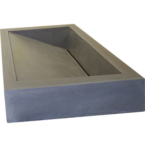 Medium Concrete Ramp Sink and Vanity