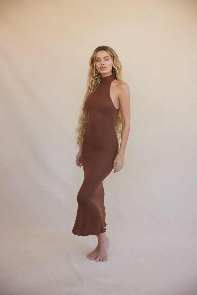 Eir Knit Dress - Bronze